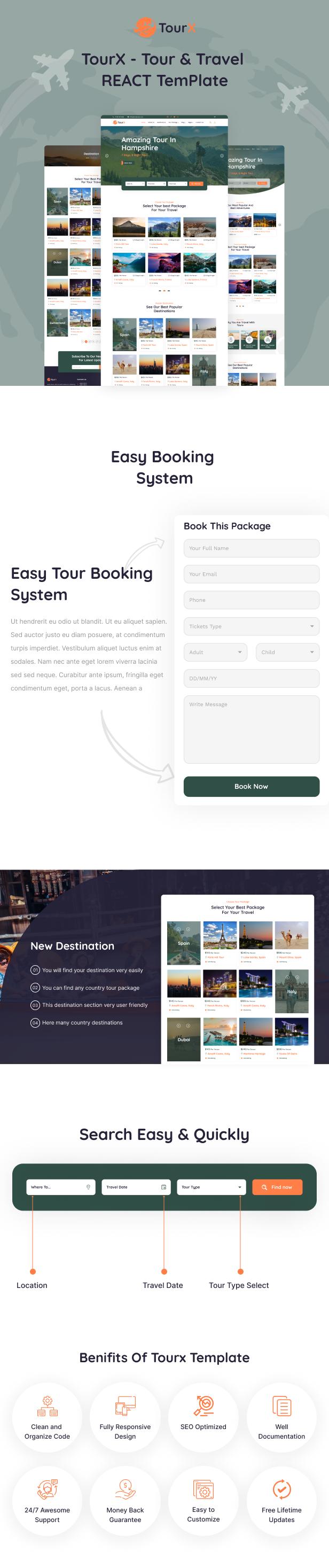 Travels Tourism React Templates
